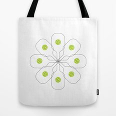 Pickleball Paddle Ball Pattern Tote Bag