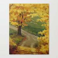 Bend in the Road Canvas Print