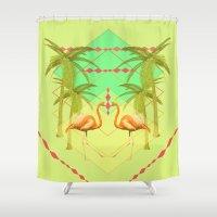go flamingo, go ! Shower Curtain