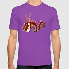 Dragon - Fire Mens Fitted Tee Ultraviolet SMALL
