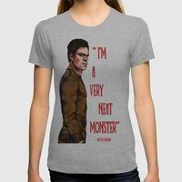 Dexter Morgan Womens Fitted Tee Athletic Grey SMALL