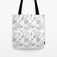 Ocarina Patterns Tote Bag