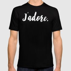 j'adore Mens Fitted Tee SMALL Black