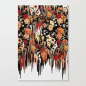 Free Falling, melting floral pattern Canvas Print