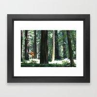 Big Foot Says Hello Framed Art Print