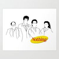 A Show About Nothing Art Print