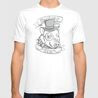 Gentleman Pig (S6 Tee) B… Mens Fitted Tee White SMALL