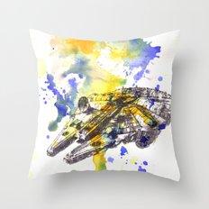 Star Wars Millenium Falcon  Throw Pillow