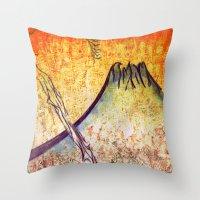 Good Morning  Mountain Throw Pillow