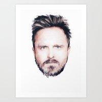 Aaron Paul Digital Portr… Art Print