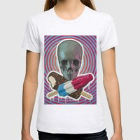 Skull x Pops Womens Fitted Tee Ash Grey SMALL