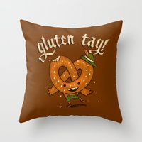 Gluten Tag Throw Pillow