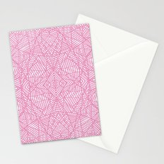 Ab Lace Pink Stationery Cards