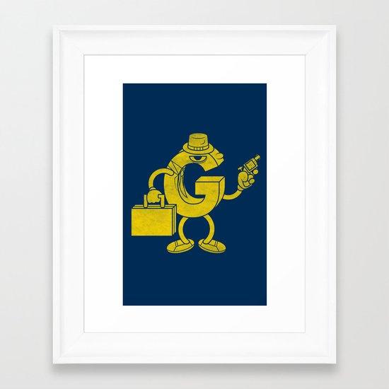 G-Man Framed Art Print