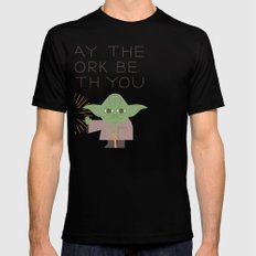 May The Fork be With You Mens Fitted Tee Black SMALL