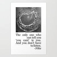 Don't Listen - Basketball Quote Art Print