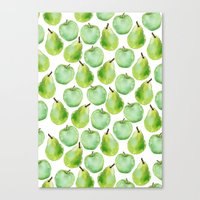 Apples And Pears Canvas Print