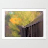 Back yard -  Claude Monet Style Art Print