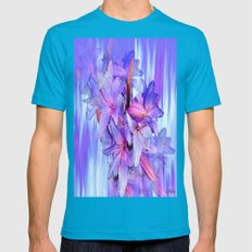 Lily Mens Fitted Tee Teal SMALL