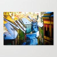Street Scene In Sibiu, R… Canvas Print