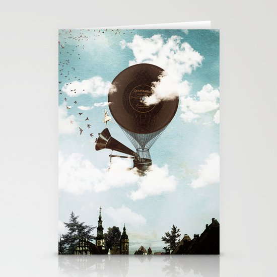 Swan Lake Up in the Air Stationery Card
