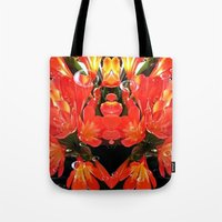 Flowers with Raindrops Tote Bag