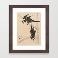 Microraptors Framed Art Print