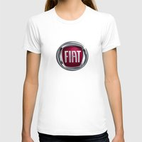 Fiat Womens Fitted Tee White SMALL