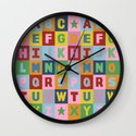 Alphabet Portrait Wall Clock