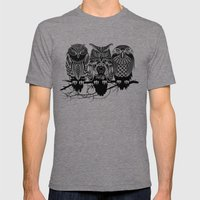 Owls of the Nile Mens Fitted Tee Tri-Grey SMALL