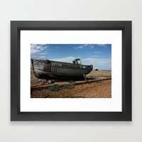 Boat off Course Framed Art Print