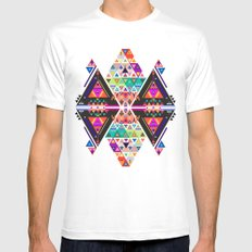 3AM White SMALL Mens Fitted Tee