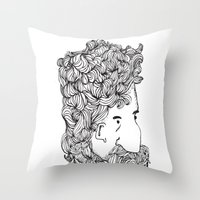 Bearded Man Throw Pillow