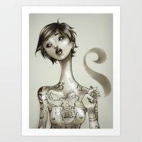 The Illustrated Woman Art Print