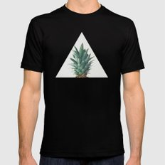Pineapple Top SMALL Mens Fitted Tee Black