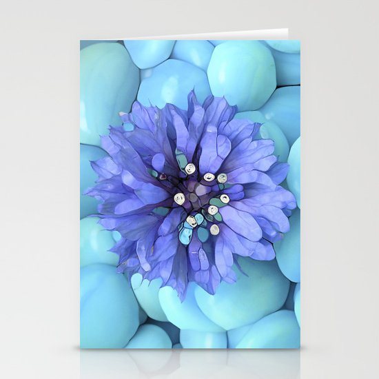 Eco-Abstract Blue Stationery Card