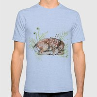 Sleeping Deer Mens Fitted Tee Athletic Blue SMALL
