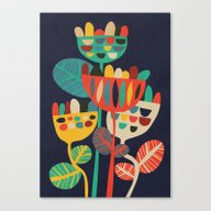 Canvas Print featuring Wild Flowers by Budi Kwan