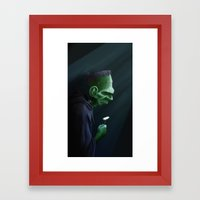Frankenstein Remembers Framed Art Print
