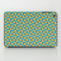 Retro floral blue iPad Case