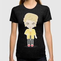Girls in their Golden Years - Blanche Womens Fitted Tee Tri-Black SMALL