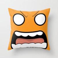 Scary Face Throw Pillow