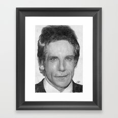 Ben Stiller Traditional Portrait Print Framed Art Print