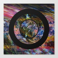 Space Marble Canvas Print