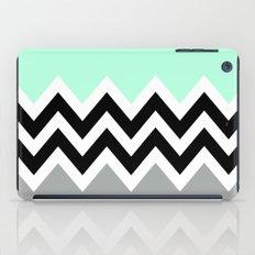 DOUBLE COLORBLOCK CHEVRON {MINT/BLACK/GRAY} iPad Case