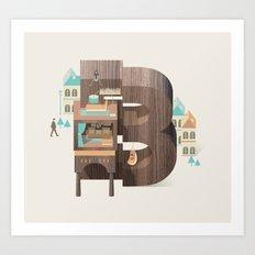 Resort Type - Letter B Art Print
