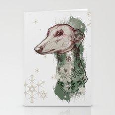 Christmas Greyhound I -i… Stationery Cards