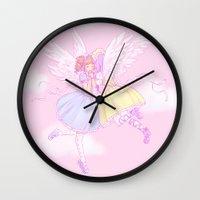 Sweet lolita angels Wall Clock