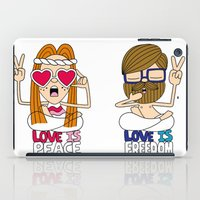 LOVEISPEACE&FREEDOM iPad Case