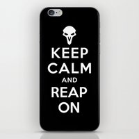 Keep Calm and Reap On iPhone & iPod Skin